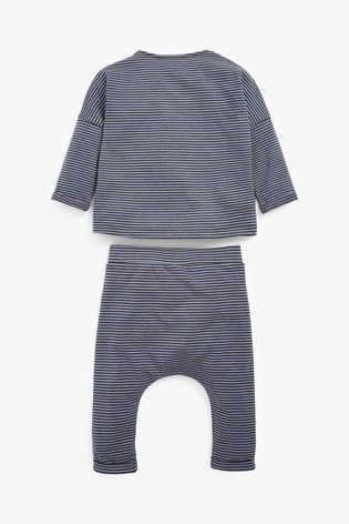 Blue Stripe T-Shirt And Joggers Set (0mths-2yrs)