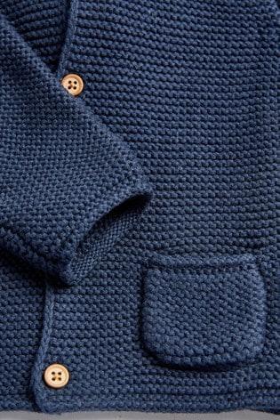 Navy Hooded Cardigan (0mths-3yrs)