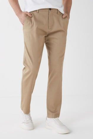 Stone Slim Fit Motion Flex Stretch Chino Trousers
