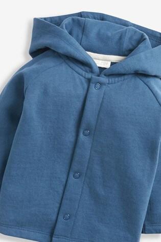 Blue Slogan Jersey Jacket (0mths-3yrs)