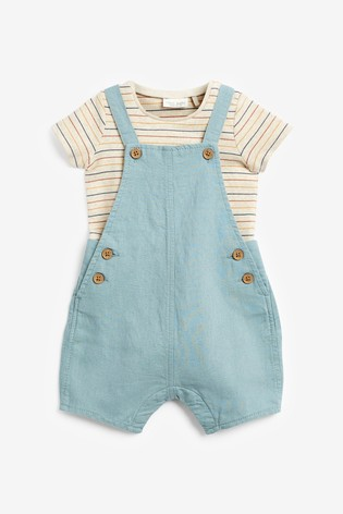 Teal Dungaree and Bodysuit Set (0mths-3yrs)