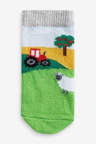 Multi 3 Pack Farm Socks (Younger)