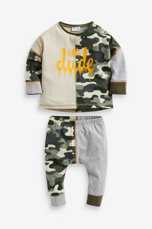 Camouflage T-Shirt And Legging Set (0mths-2yrs)