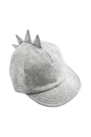 Grey Jersey Dinosaur Spike Cap (0mths-2yrs)