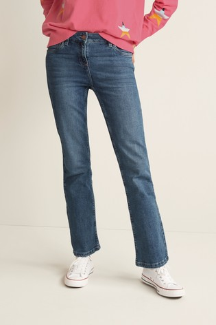 Mid Blue Boot Cut Jeans