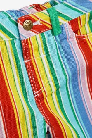 Little Bird Unisex Rainbow Stripe Shorts