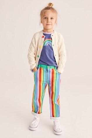 Little Bird Unisex Rainbow Stripe Chino Trousers