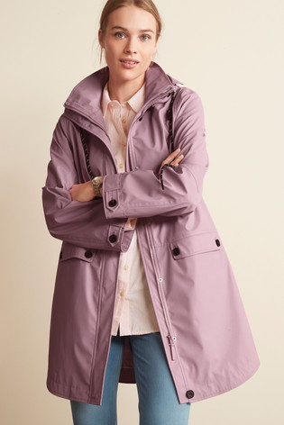 Lilac Rubber Rain Jacket