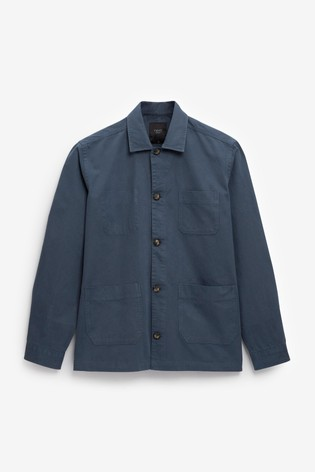 Cornflower Blue Lightweight Shacket