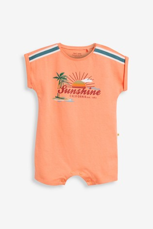 Rust Palm Tree 3 Pack Appliqué Rompers (0mths-3yrs)