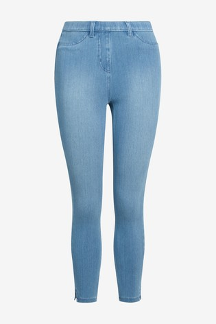Bleach Wash Jersey Cropped Leggings
