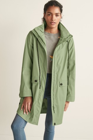 Green Rubber Rain Jacket