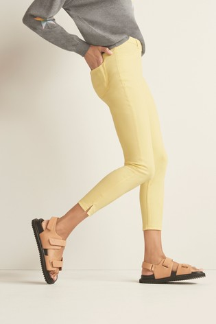 Lemon Jersey Cropped Leggings