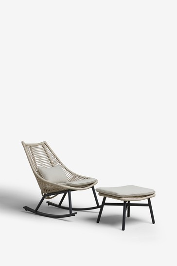 Helsinki Rocking Chair With Footstool