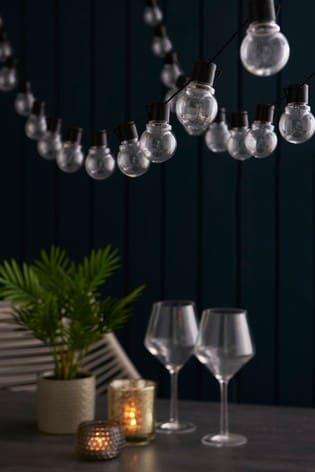 Set of 40 Mains Powered Multicoloured Festoon Line Lights