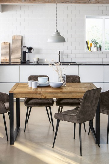 Jefferson Rustic Extending 4 to 6 Seater Dining Table