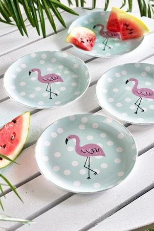 Flamingo Set of 4 Side Plates
