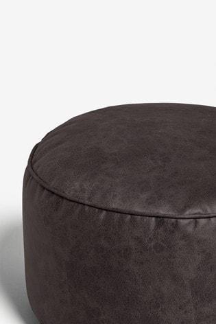 Monza Faux Leather Bronx Pouffe