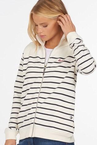 Barbour® Coastal Navy Stripe Zip Through Folkstone Jersey Jacket