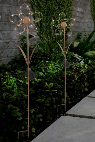Set of 2 Solar Flower Stake Lights