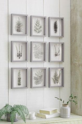 Buy Set of 9 Floating Botanical Framed Art from the Fitforhealth online shop