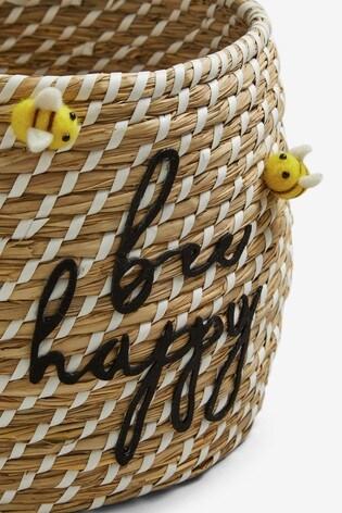 Bee Happy Storage Basket
