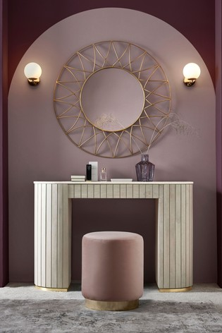 Piano Light Luxe Storage Dressing Table