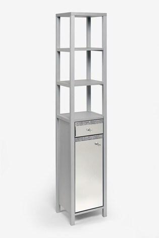 Harper Gem Mirrored Tall Storage Unit