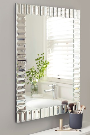 Deco Glass Rectangular Mirror