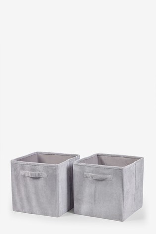 2 Pack Corduroy Storage Cubes