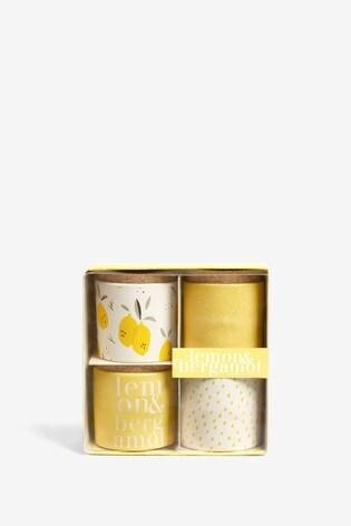 Set of 4 Lemon & Bergamot Candles
