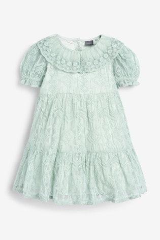 Mint Lace Dress (3mths-7yrs)