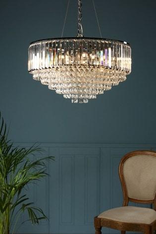 Chrome Vienna Crystal 9 Light Chandelier