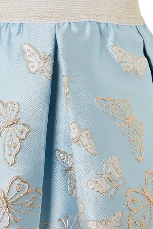 Monsoon Blue Cascading Butterfly Skirt