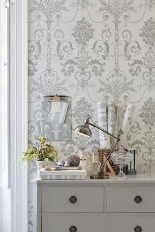 Dove Grey Josette Wallpaper