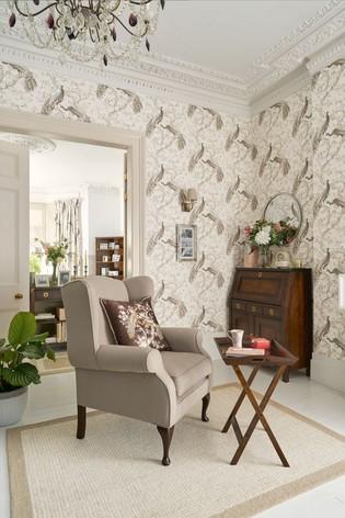 Soft Truffle Belvedere Wallpaper