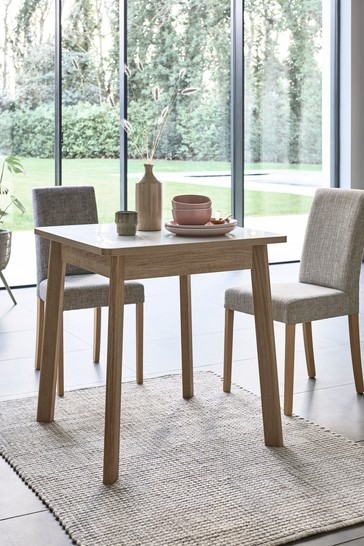 White Compact Storage Dining Table
