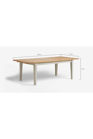 Newhaven Painted 6 To 8 Extending Dining Table
