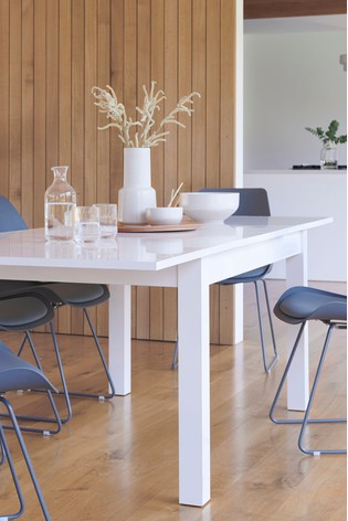 White Gloss 6-10 Double Extending Dining Table