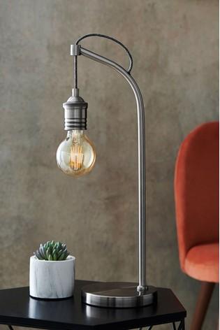 Brushed Silver Newark Table Lamp