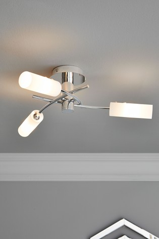 Chrome Seville 3 Light Flush Fitting