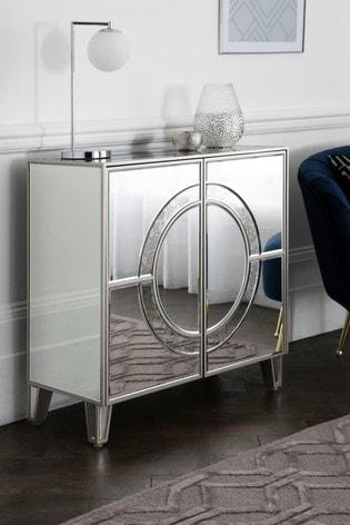 Mirrored Geo Cabinet