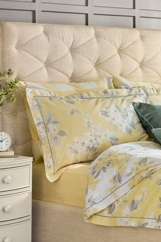 Laura Ashley Yellow Apple Blossom Duvet Cover And Pillowcase Set