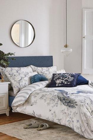 Laura Ashley Belvedere Duck Egg Duvet Cover and Pillowcase Set
