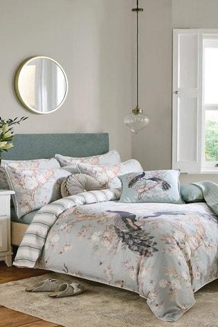 Duck Egg Belvedere Duvet Cover and Pillowcase Set