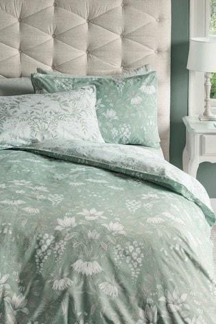 Laura Ashley Sage Parterre Duvet Cover And Pillowcase Set