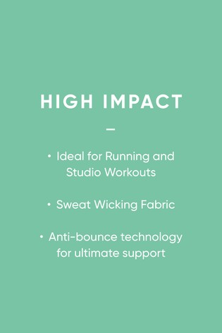 Black/Lime Sports High Impact Light Pad Non Wire Full Cup Bra