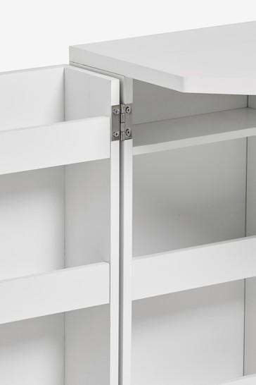 White Gloss Corner Dressing Table