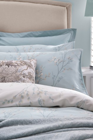 Laura Ashley Pussy Willow Duvet Cover and Pillowcase Set