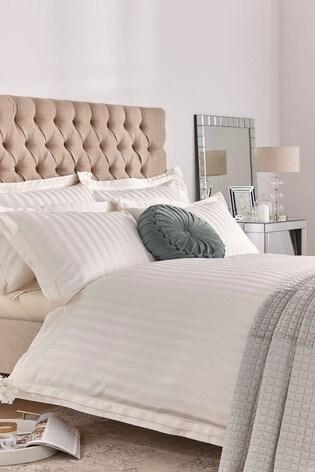 Laura Ashley Cream Shalford Duvet Cover And Pillowcase Set